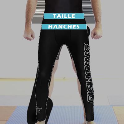 Mesures pantalon de compression homme FIGHTING SPIRIT